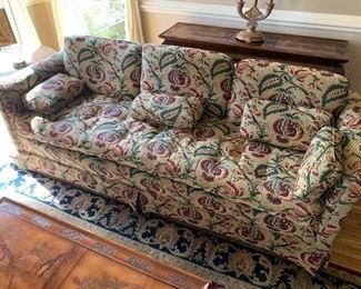 Upholstered sofa ==>$275