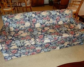 $250     Second flowered upholstery sofa