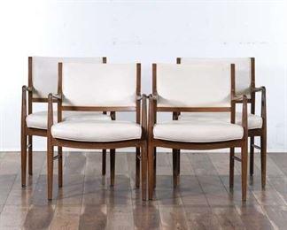 Set 4 Mid Century Danish Modern Dining Chairs 2