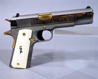 """America Remembers """"George S Patton Jr WWII 75th Anniversary Tribute Pistol"""" Colt 1911 .45 ACP Pistol SN# CV43444 #124 Of 500, Working Firearm With COA"""