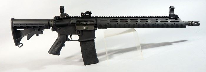 Stag Arms Stag-15 5.56 Cal Rifle SN# 328277, Adjustable Buttstock, Flip Up Sights, Vented Muzzle