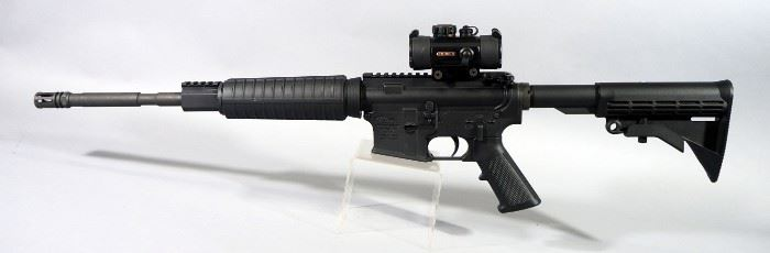 Anderson MFG AM-15 5.56 NATO Rifle SN# 16274169, With Adjustable Stock, Vented Muzzle, TruGlo Sight, Red And Dot Sight