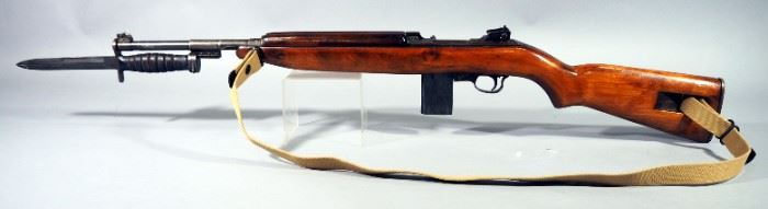 Inland MFG Div M1 Carbine .30 Cal Rifle SN# 4980280, With M4 Camillus Bayonet, 2 Total Mags And Canvas Sling