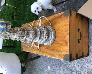 Gorgeous wooden Trunk with Brass hardware $100