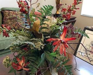 """Flower arrangement $30.00   25"""" tall"""