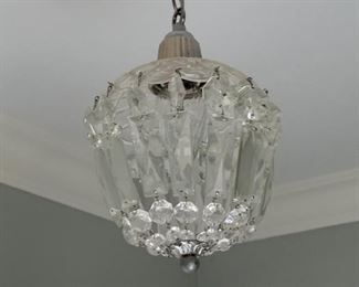 "Glass chandelier. 12"" tall.  $75"