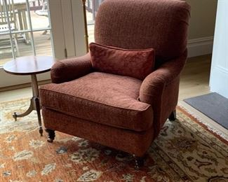 Club chair from URSALA in Ridgefield. (Look it up). Cost a bundle.... ask:  $375 this is in excellent condition.  Original cost $3000