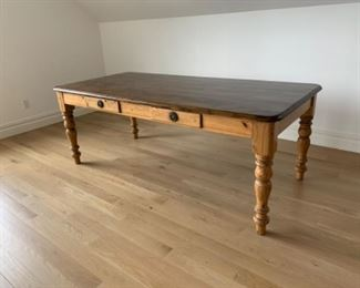 Farm house table    This is desirable people. 38w x 82 long.   $450. Enlarge and look at it.  Reduced to $400