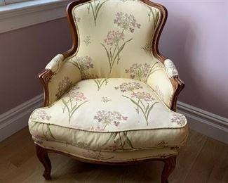 Silk bedroom chair.  Antique. $250