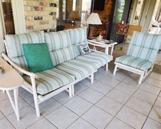 rattan bamboo sofa   $200