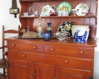 CHERRY HUTCH AND ANTIQUE TREASURES!