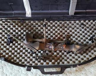 Bow & arrow case & bow with sight