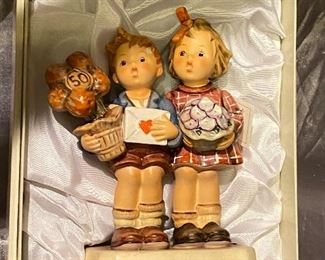 2 IDENTICAL BOXED SETS - 50TH ANNIVERSARY COMMEMORATIVE FIGURINE - HUMMEL FIGURE - WEST GERMANY $80