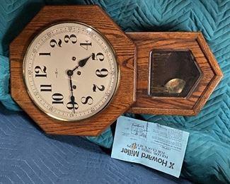 Howard Miller wall clock with key $40