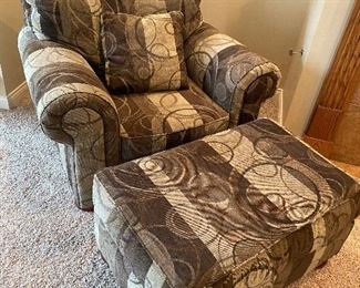 CHAIR AND OTTO - KLAUSSNER - $250 SET