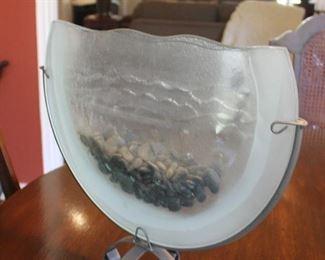 "2bGlass vase.  Pocket shape     13.25""h x 2""dp                                      $20.00"