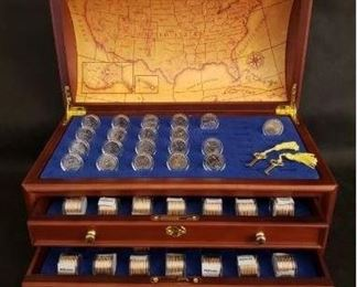 Danbury Mint Treasure Chest with Uncirculated State Quarters https://ctbids.com/#!/description/share/377336