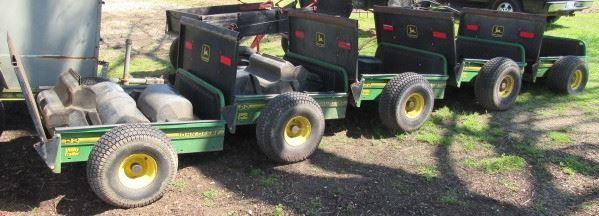 3 - John Deere 22 Utility Yard Trailers - Price $375.00 Each - See Next 3 Photos For Closer Views