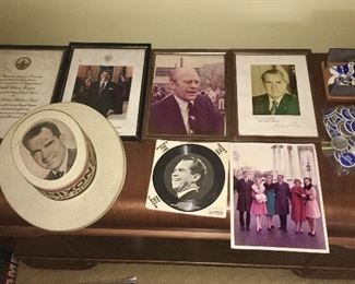 A sample of presidential memorabilia