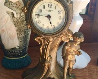 Art Nouveau New Haven Child/Cherub mantle clock