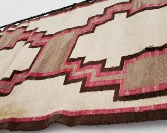 7080 year old Antique Navajo Rug  the Original Storm Pattern