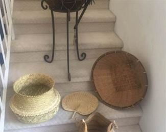Authentic African Kettle Drum and Weaved Purse