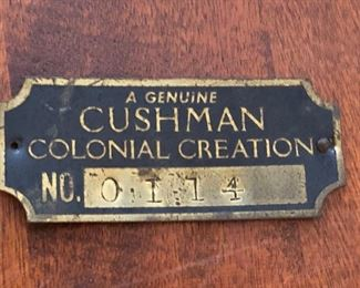 Cushman Plate for Lamp Table -- rare--early table before oval Medallion