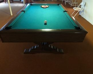 Brunswick slate pool table with pool sticks and rack $800 In excellent condition