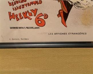 Set of 3 French illustrations