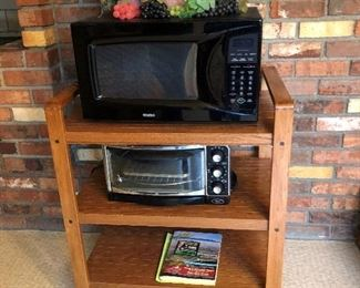 Microwave $35, Stand $35, Toaster $25
