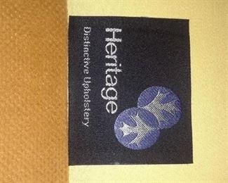DARK ORANGE HERITAGE COUCH