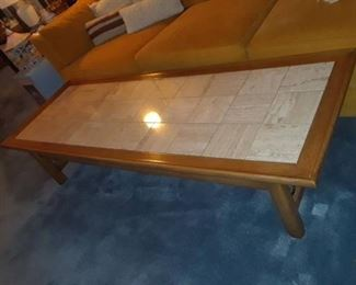 TILE TOP WOOD OFFEE TABLE