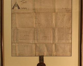 1614 King James I signed Royal Charter