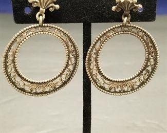 $150.00 w/ 13 grams  Guglielmo Cini 925 Silver Earrings