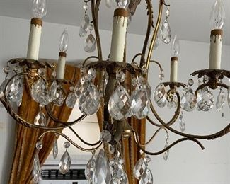 Crystal Chandelier $325 buyer is responsible for removal.