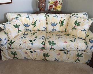 """Arhaus """"Baldwin"""" slip-covered sofa.  Slipcover is washable and could be changed to any style you like.  Sofa was originally around $2500.  It is 69"""" long, 35"""" deep and 29"""" high.    Asking price  $495."""