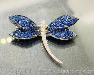 Sapphire and Diamond Pin