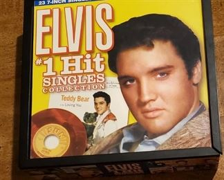 Elvis #1 hits, 23 total records in full color picture sleeves.  All for $100.00 (picture 1)