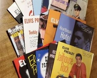 Elvis #1 hits, 23 total records in full color picture sleeves.  All for $100.00 (picture 2)