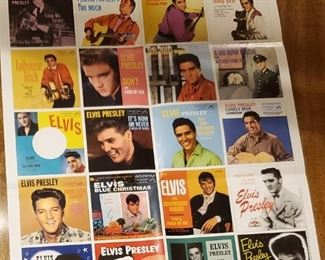 Elvis #1 hits, 23 total records in full color picture sleeves.  All for $100.00 (picture 3)