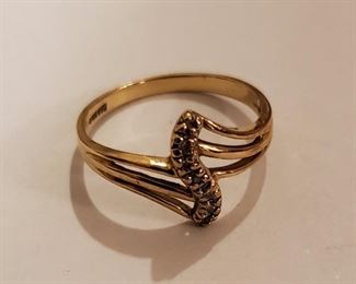 10 K gold ring size 7. $69.00