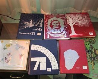 NISKAYUNA YEARBOOKS 2 LEFT 1979 band 1984