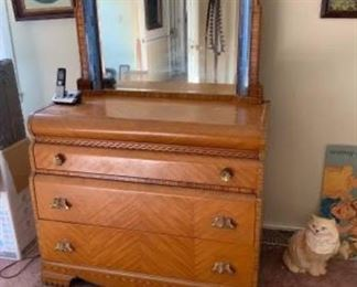 Mid Century Dresser and Mirror