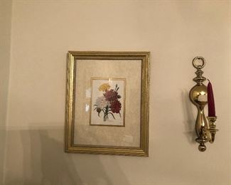 Picture and sconce