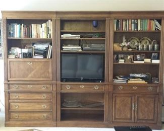 """Wall unit - $500 OR $200 per section - 108"""" wide x 80"""" tall - each section is 36"""" wide x 80"""" tall (3 sections total) - thomasville furniture"""