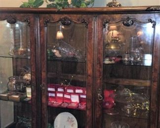 3-door  and 3-shelf lighted china cabinet