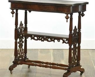 Antique Victorian Eastlake Carved Mahogany Console