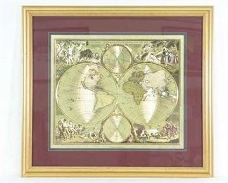 Frederick De Wit Metallic World Map