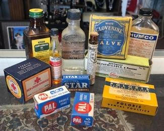 Vintage Apothecary and Medical items $1 each