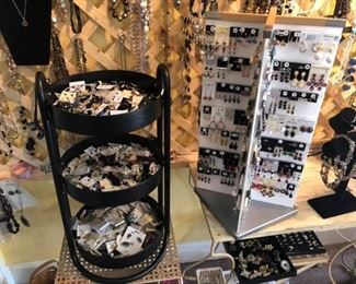 Hundreds of pairs of new to vintage earrings - sterling and more $1 pair